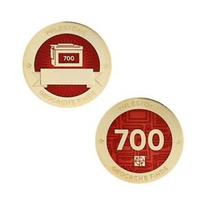 Milestone Geocoin and Tag Set - 700 Finds Geocaching Official Trackable