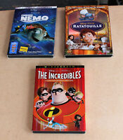 DISNEY DVD LOT WITH SLIPCOVERS: RATATOUILLE, THE INCREDIBLES, FINDING NEMO