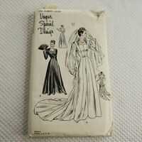 Vogue Special Design Pattern S-4697 Wedding Dress 1950s Vintage Uncut Size 14