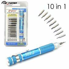 Portable 10 In 1 Precision Screwdriver Bit Set Torx Phillips Repair Tool Kit
