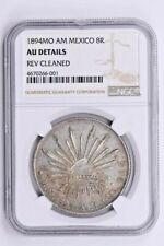 1894MO AM Mexico 8 Reales NGC AU Details, REVERSE CLEANED Witter Coin