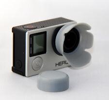 Sonnenblende Linsenschutz Lens Hood Go Pro GoPro Hero 3, 3+, 4 grau grey