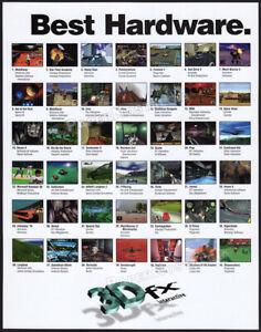 3Dfx INTERACTIVE__Original 1997 Print AD / game promo / poster__Voodoo Graphics