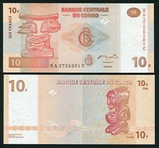 Congo DR 10 francs 2003.06.30. Apui-Tete Chef Luba Carving P93A HdM Print UNC