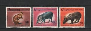 GUYANA 1968 Definitives 50c, 60c, $1 part of.VLHM No Hinge Remains!