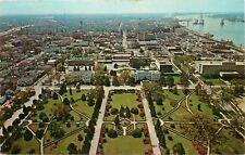 Louisiana Capitol Baton Rouge aerial view LA Postcard