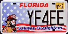 "FLORIDA "" FIREFIGHTER - FIRE FIGHTER "" FL Specialty License Plate"