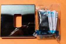 "DETA G3553BK 20AX DP Griglia Switch/Surround/Chrome Frame ""ESTRATTORE VENTILATORE"" NERO"