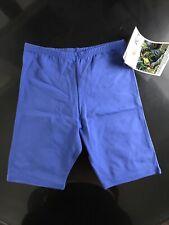 Vintage 1990s Activewear Nos New Fitness Yoga Usa Made Biker Shorts Blue Large
