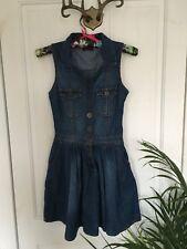 Miss Selfridge denim western style sleeveless skater dress 8