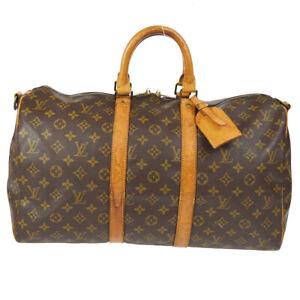 LOUIS VUITTON KEEPALL 45 BANDOULIERE TRAVEL HAND BAG MONOGRAM M41418 uq 91118