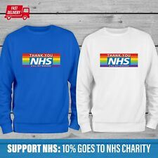 THANK YOU NHS Rainbow Gift Jumper, Stay Home, Isolation gift for Doctor Jumper.