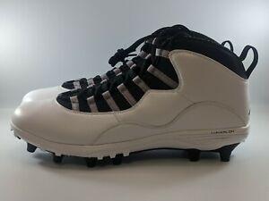 Nike Air Jordan 10 TD Mid Football Cleats Size 9 Steel Grey CQ2073-100