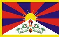 1 Autocollant Sticker Drapeau Tibet flag NEUF