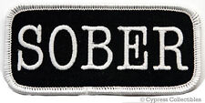 SOBER embroidered BIKER PATCH ALCOHOLICS ANONYMOUS AA iron-on emblem SOBRIETY