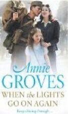 ANNIE GROVES __ WHEN THE LIGHTS GO ON AGAIN  ___ SHOP SOILED  __ FREEPOST UK