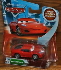 Disney Pixar Cars Die Cast Look My Eyes Change Ferrari F 430 #21  NEW