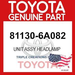 GENUINE OEM TOYOTA UNIT ASSY, HEADLAMP, 81130-6A082