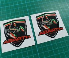 Fiat 500 / 595 / 695 Abarth competizione resin Badge wing Decals / Stickers 60mm