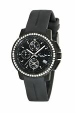 Kenneth Cole New York KC2732 Women's Chronograph Watch - Stone Bezel Black Band