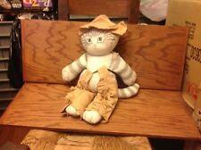 Dustyn Schear Pre-Applause Cowboy Cat In Chaps. Rare Original Numbered Plush!