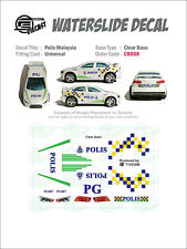 CB008# CLEAR BASE Waterslide Decals> POLICE_MSIA > For Custom 1:64 Die cast