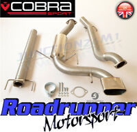 """Cobra Astra VXR MK5 3"""" Stainless Exhaust System Cat Back Non Res VZ08h-TP32 Tail"""