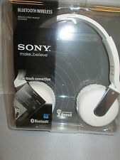 New Sony DR-BTN200 White Stereo Wireless Bluetooth Headphones Headset DRBTN200