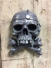 Jack Sparrow Pirate Skull Crossbones Wall Mounted Pewter Beer Bottle Cap Opener