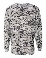 Badger Adult Digital Camo Long Sleeve T-Shirt, S-XL, 2X, 3X, 4XL, 4184