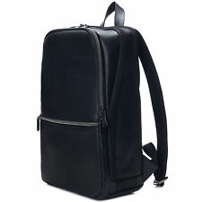 Alpine Swiss Mens Leather Laptop Backpack Travel Daypack Computer Bag Rucksack