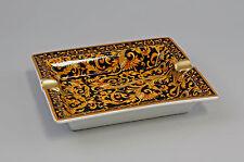 Porzellan Schale Ascher Aschenbecher Kobalt Gold 9987213