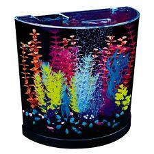 New listing New Half-Moon Aqua Fish Tank Bubbling Aquarium Kit 3 Gallons, with Blue Led Bubb