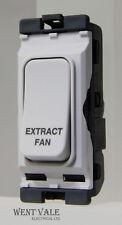 HAGER sollysta Griglia-wmgsdp 2/EF - 20 A D/POLE SWITCH griglia stampata Estratto Ventilatore.