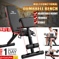 Workout Fitness Dumbbell  Bench Home Adjustable Flat Gym Full Body Exercise USA
