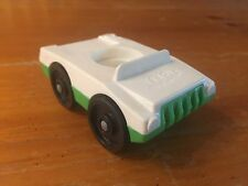 Vintage Fisher Price Little People White and Green Car Figure