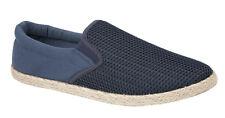 Mens Slip On Canvas Boys Espadrilles Pumps Plimsolls Trainers Shoes Sizes 7-12
