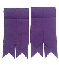 New Mens Kilt Hose Flashes Purple Color/Highland Purple Kilt Hose Socks Flashes