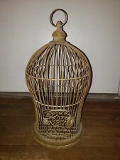 Antique Metal Wire Bird Cage Ovoid