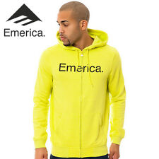 Emerica Pure Solid Full Zip Skate Hoodie Lime L NWT NEW RT$6275€ Snowboard Surf