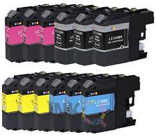 12Pack Ink + chip fits Brother LC101 LC103 MFC J470DW J475DW J650DW Printer