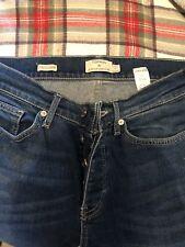Mens Topman Blue Stretch Skinny Jeans Size 30S