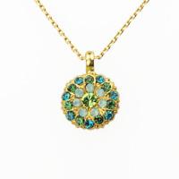 MARIANA Guardian Angel Necklace Swarovski Crystal Green Aqua IVY blue gold gift