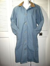 VTG~Woolrich For Women Full Length Canvas Barn Coat~Button Front~Size S~EUC!