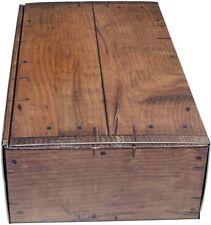 """Boîte en plus sombre en finition bois """"rustique"""" - wk 2er-weinkoffer weinkarton BOX t"""