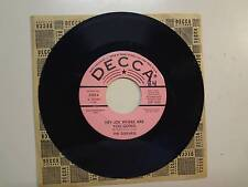 "SURFARIS: Hey Joe Where Are You Going-So Get Out-U.S. 7"" 66 Decca No. 31954 DJ"
