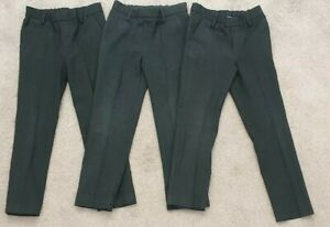 3 M&S Charcoal Grey School Trousers- 5-6 Years