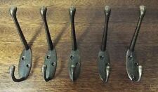5 X Estilo Clásico De Antiguo Hierro Fundido Industrial Doble Perchero Colgador De Zinc