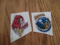 VINTAGE RARE 1971 LOT OF 2 DC COMICS PUFFY STICKERS AQUAMAN & THE FLASH