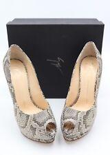 NIB Giuseppe Zanotti Sharon Snakeskin Peep Toe Platform Pumps Heels 11 41 $775
